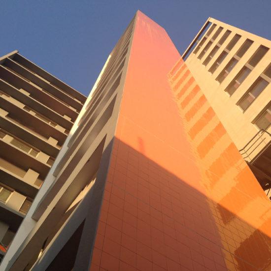 edifícios por do sol